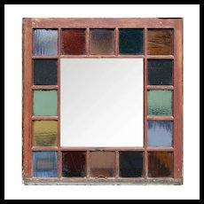 Salvaged Antique American Stained Glass Window, Late 19th Century
