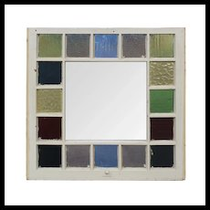 Reclaimed Antique American Stained Glass Window, Late 19th Century