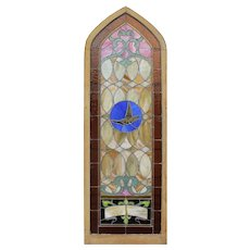 Antique Figural American Stained Glass Window, Early 1900s