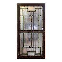 Antique American Leaded Glass Window Sash Set