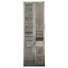Salvaged Interior Wood Shutters from Alabama Plantation