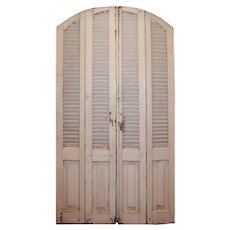 Reclaimed Set of Arched Bi-Fold Shutters