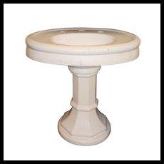 Salvaged Antique Porcelain Pedestal Sink, c.1910