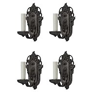 Marvelous Pairs of Antique Single-Arm Sconces, Signed Riddle Co.