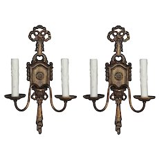 Neoclassical Double-Arm Sconces, Antique Lighting