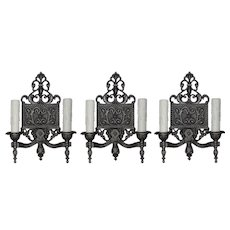 Neoclassical Double Arms Sconces, Antique Lighting
