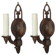 Art Deco Single-Arm Sconces, Antique Lighting