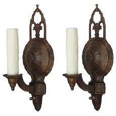 Art Deco Single-Arm Sconces, Antique Lighting