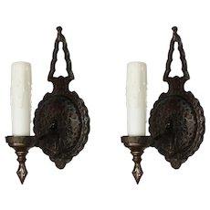 Tudor Single Arm Sconces in Iron