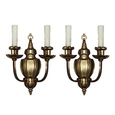 Exceptional Pair of Antique Sheffield Style Sconces by E. F. Caldwell