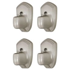 Porcelain Art Deco Bath Sconce Pairs by Paulding