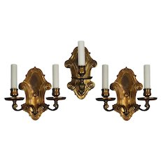 Set of Three Antique Sconces by E.F. Caldwell