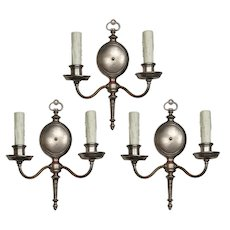 Marvelous Pair of Antique Colonial Revival Sconces, c.1920