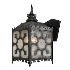 Large Exterior Vintage Sconce with Granite Glass
