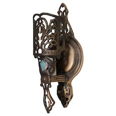 Antique Cast Bronze Sconce, c. 1920