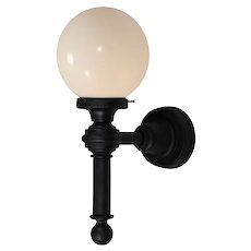 Large Antique Exterior Sconce with Glass Globes, Early 1900's