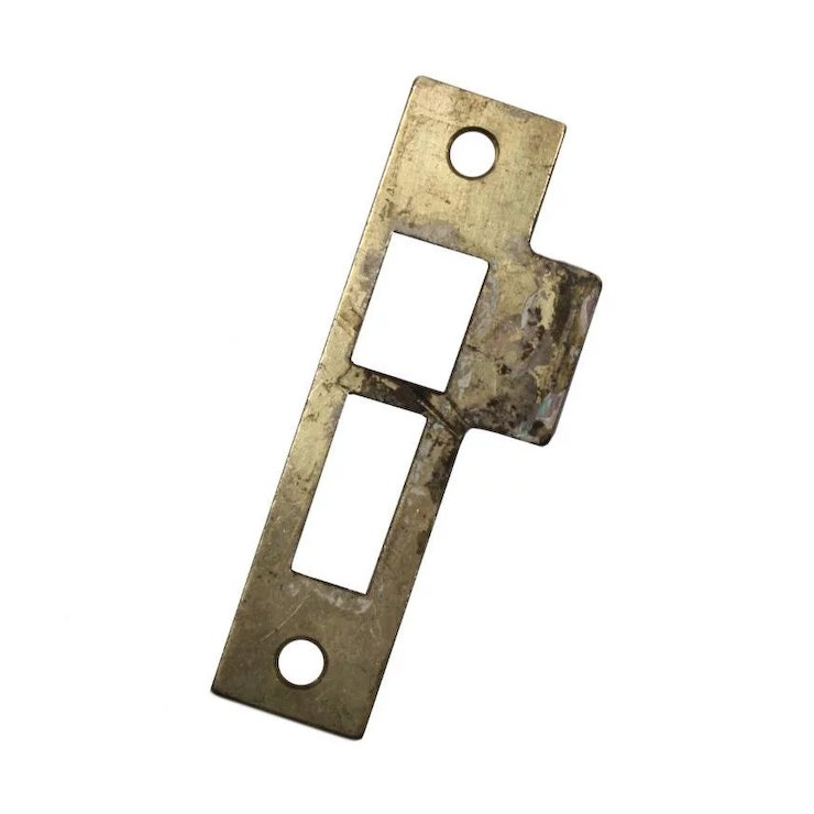 "Antique Strike Plates for Mortise Locks, 5/32"" Spacing - Antique Strike Plates For Mortise Locks, 5/32"" Spacing"