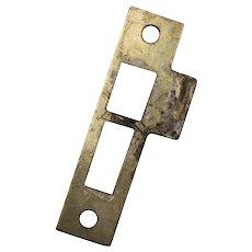 "Antique Strike Plates for Mortise Locks, 5/32"" Spacing"