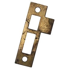 "Antique Strike Plates for Mortise Locks, 7/32"" Spacing"