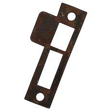 "Antique Strike Plates for Mortise Locks, 1/8"" Spacing"
