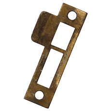 "Antique Strike Plates for Mortise Locks, 1/8"" Spacing"