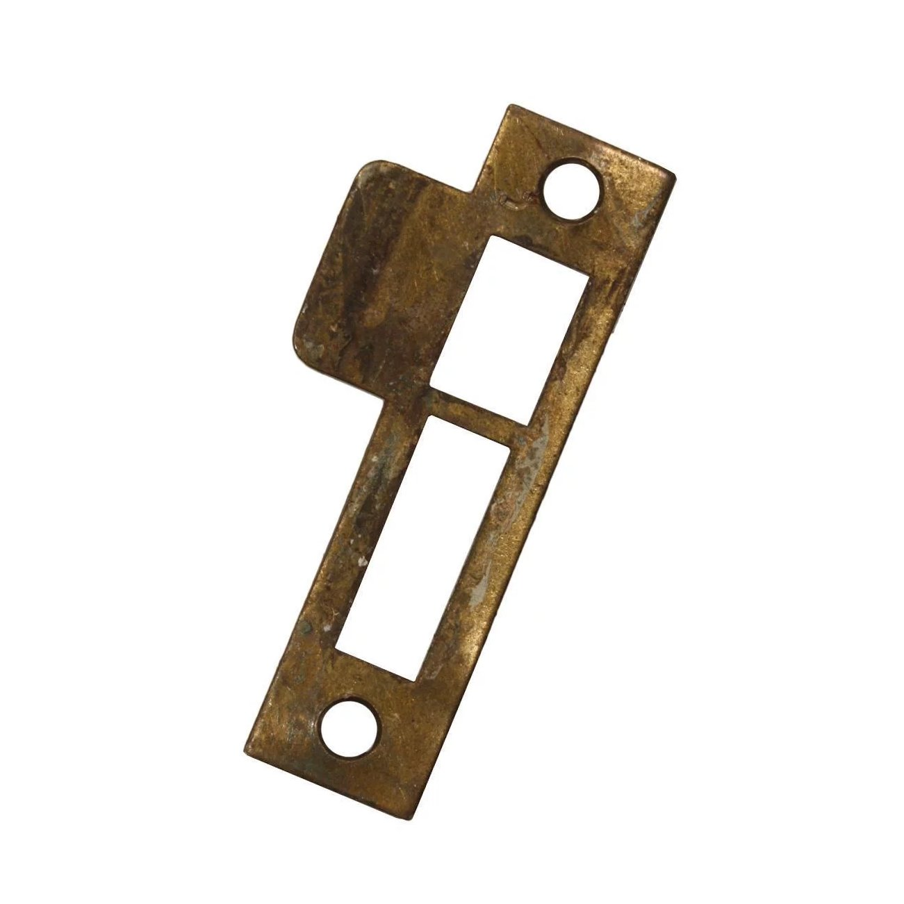 "FACE PLATE,WITH STRIKE PLATE PRICE IS FOR ONE /"" CEYLON /"" MORTISE LOCK...BRASS"