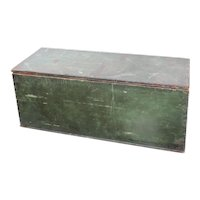 Green Antique Wooden Trunk