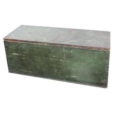 Green Antique Wooden Trunk