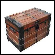 Old Antique Wooden Trunk
