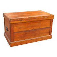 Large Antique Wooden Trunk