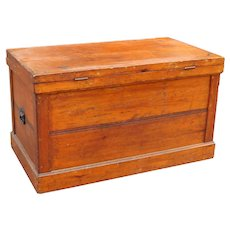 Large Antique Wooden Trunk