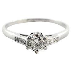 Platinum .55ct. Diamond Engagement Ring