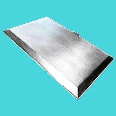 Art Deco Sterling Silver Cigarette Case - Card Case - 170 grams