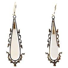 Fabulous Long Georgian Antique Drop Earrings~ Scotland