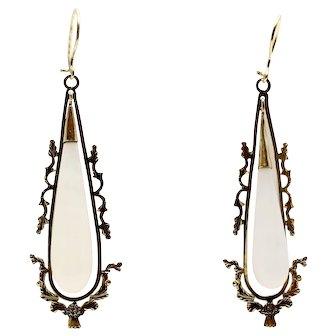 Georgian Chalcedony Drop Earrings~ Scotland
