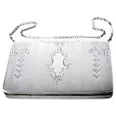 Art Deco Sterling Silver Compact Purse 1924