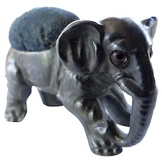 Charming Metal Baby Elephant Pin Cushion