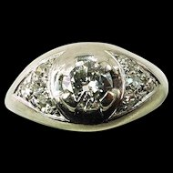 Antique ~ 18K White Gold Edwardian Era .33ct Diamond Ring