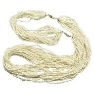 Vintage Rice Pearls Torsade Necklace and Bracelet by BIRK'S