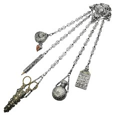 Art Nouveau Large Chatelaine ~ 5 Accessories