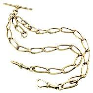 Victorian Watch Chain 9K ~ Double Albert Style