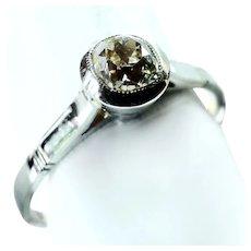 Mine Cushion Cut 50ct. Champagne Diamond Ring