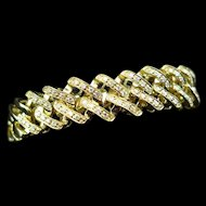 Late 20th C. 18K Diamond Designer Bracelet Signed Uno A Erre, Italy