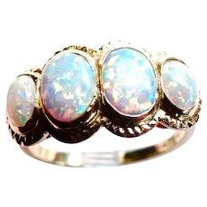 Australian Solid Opals Exquisite 14K Ring - Birk's