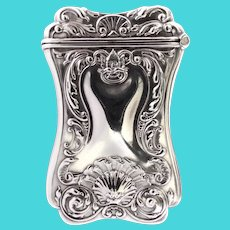 Art Nouveau SS Vesta Case Match Safe Repousse