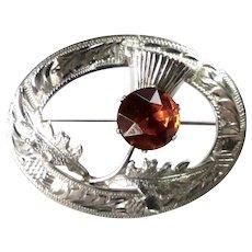 Sterling Silver Scottish Thistle Brooch