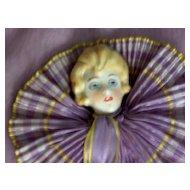 1920/30 Half Doll Handkerchief Case in Original Box
