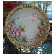 Nippon Roses Dessert Fruit Bowl with 4 Serving Dishes