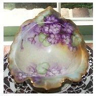 Handpainted  Austria Vienna Violet Bowl