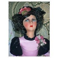 French Silk Face Boudoir Doll High Color, 28""
